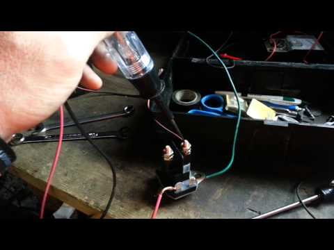 Testing the solenoid off my Ariens riding mower