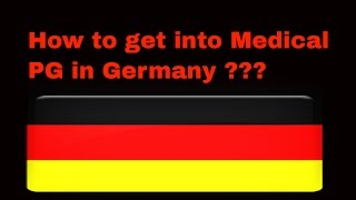 Steps for Medical PG in Germany