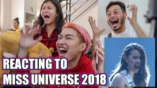 REACTING TO MISS UNIVERSE 2018 | VLOGMAS DAY 12