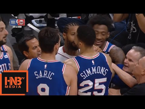 Ben Simmons & James Johnson Skirmish / Heat vs Sixers Game 4
