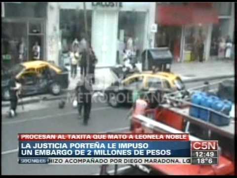 C5N - POLICIALES: PROCESAN AL TAXISTA QUE MATO A LEONELA NOBLE