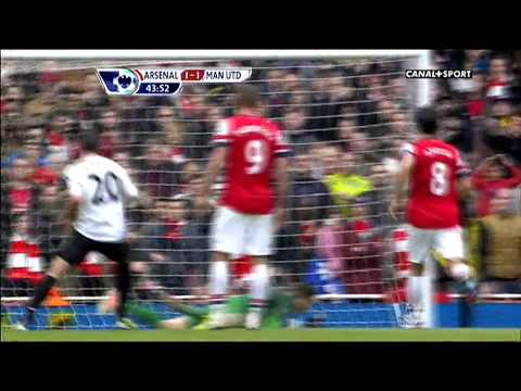 Arsenal vs Manchester United 1-1 All Goals HD 2013