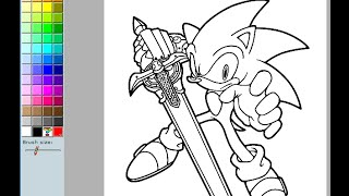 Sonic The Hedgehog Coloring Pages For Kids - Sonic The Hedgehog Coloring Pages Games
