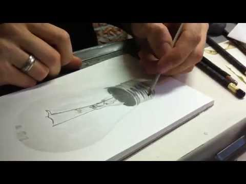 Drawing PHOTO REALISTIC bulb - Timelapse