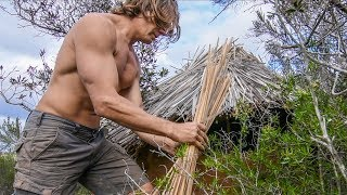 Preparing Primitive Hut for Rain and Tasting Smreka