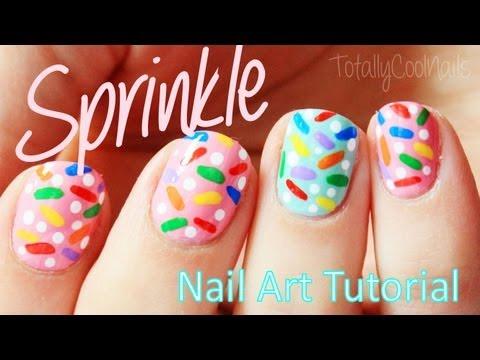 Easy Sweet Sprinkle Nails