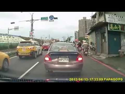Taiwan road The harsh dangerous car driving Block cars violence