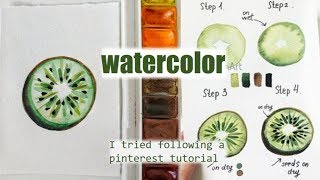 I TRIED FOLLOWING A PINTEREST WATERCOLOR TUTORIAL || Watercolor tutorial || #3