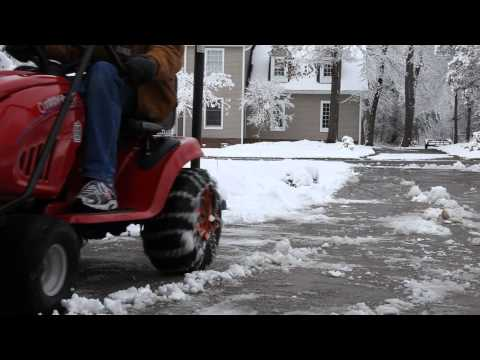Troy Bilt Lawn Mower with Snow Plow