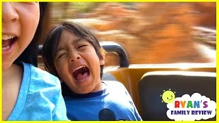 Ryan rides Splash Mountains for the first time at DisneyLand Amusement Parks