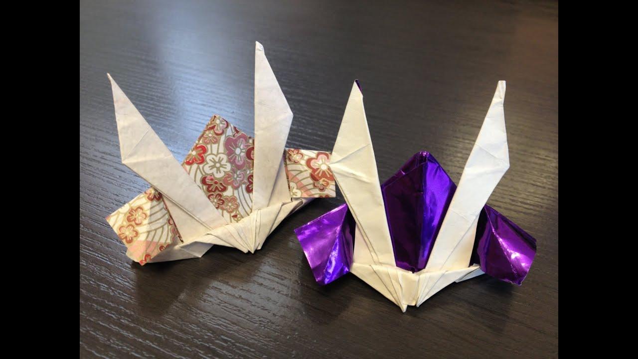 折り紙の 折り紙のかぶとの作り方 : 折り紙 カブトの作り方 How to ...