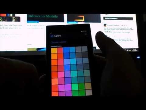 Personalization options - Win 10 Mobile Insider Prev. BUILD 10080