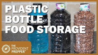 How to Package Dry Foods in Plastic Bottles for Long Term Food Storage