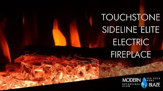 """Touchstone Sideline Elite - 50"""" Recessed Electric Fireplace (#80036)"""