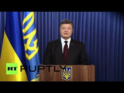 Ukraine: Poroshenko thanks nation in post-election speech