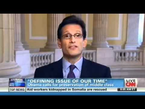 Majority Leader Eric Cantor, on CNN, Responding to President Obama's State of the Union Address