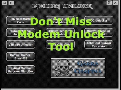 All In One Modem Unlock Tool