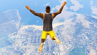 GTA 5 Jumps/Falls Ragdolls Compilation #3 (Euphoria Physics - Funny Moments)