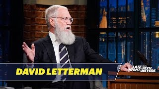 David Letterman Forgets He Has a Beard