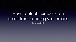 How To Block Someone On Gmail From Sending You Emails