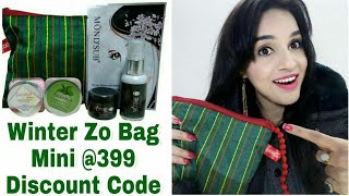 Winter Zo Bag Mini | Discount Code | 5 Products of 2700+ @ 399 | Unboxing & Review | Insta Giveaway