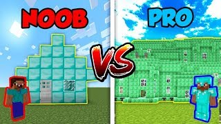 Minecraft NOOB vs. PRO: DIAMOND or EMERALD HOUSE in Minecraft!