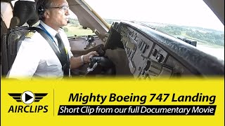 MUST SEE! Full Boeing 747 calmly landed by Captain Victoriano on short Runway! MULTICAM! [AirClips]