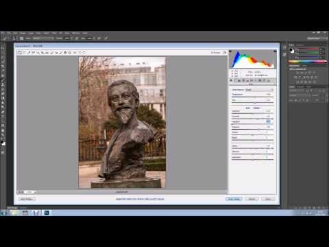 Details in statues using Camera Raw and Photoshop