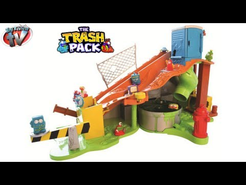 The Trash Pack Sewer Dump Playset Kids Toy Review. Moose Toys Trashie Slime Fun