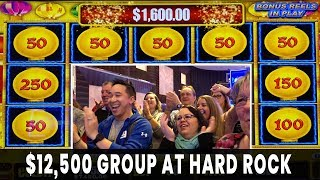 😱 $12,500 GROUP PULL 💸 Happy Lantern JACKPOTS 🏮 25 People $500 Each 🎸 Hard Rock Atlantic City #ad