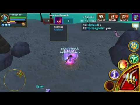 Arcane legends: mage vs rogue 1v1