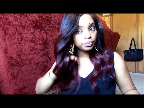 I dyed my brazilian body wave hair ombre auburn red!! bye bye bleach blonde;)