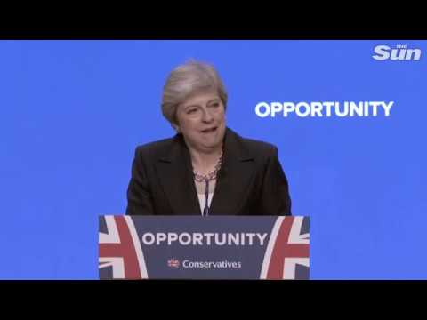 Theresa May on British business post-Brexit at the Conservative Conference