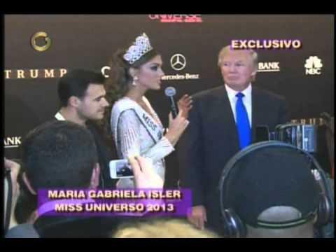 Miss Universo 2013. Rueda de Prensa de Maria Gabriela Isler