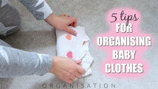 5 TIPS FOR ORGANISING BABY CLOTHES | Sarah-Jayne Fragola