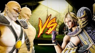 Mortal Kombat Komplete Edition - SnowKat Kintaro & Zombie Goro Tag Ladder 4K Gameplay Playthrough