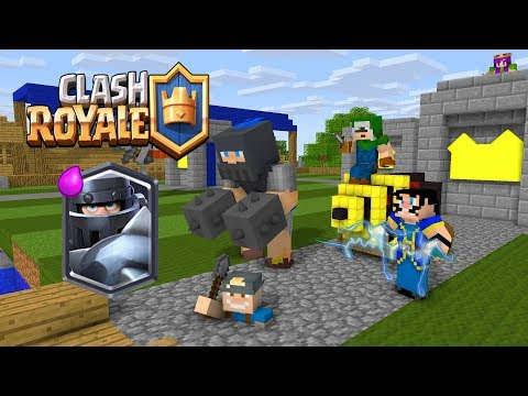 Monster School : Clash Royale Blue King Legendary Deck - Minecraft Animation