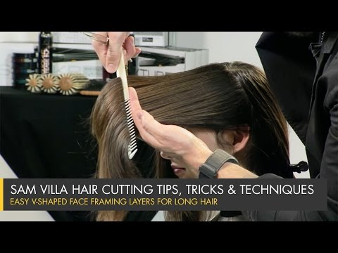 How To Cut Perfect Face Framing Layers for Longer Hair - V-Shaped Layers
