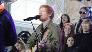 Ed Sheeran performing perfect on today show