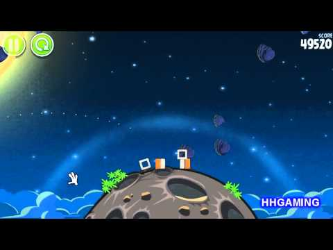 Angry Birds Space - Walkthrough 1-4 3 stars Pig Bang level guide how to get three star levels