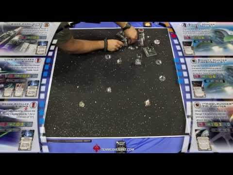 Star Wars X-Wing - Nationals - Top 4 Match 1 - James N. v. Dany Laberge - Gen Con 2013