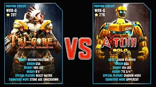 REAL STEEL WRB Tri Gore VS Atom Gold New Robots GOLD UPDATE (Живая сталь)