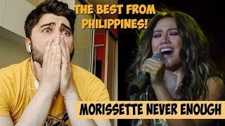 IS IT POSSIBLE? Morissette Amon [Mother's Day Concert] - Never Enough (Highest Version) | REACTION