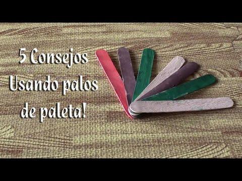 5 Consejos usando palos de paleta