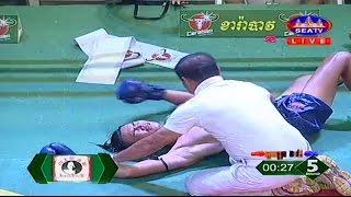Kun Khmer, Khim Dima Vs Thai, Khunkrongtheb, SEATV boixng, 18 March 2017, Carabao arena