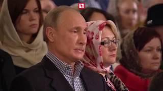 Путин встретил Рождество в Петербурге