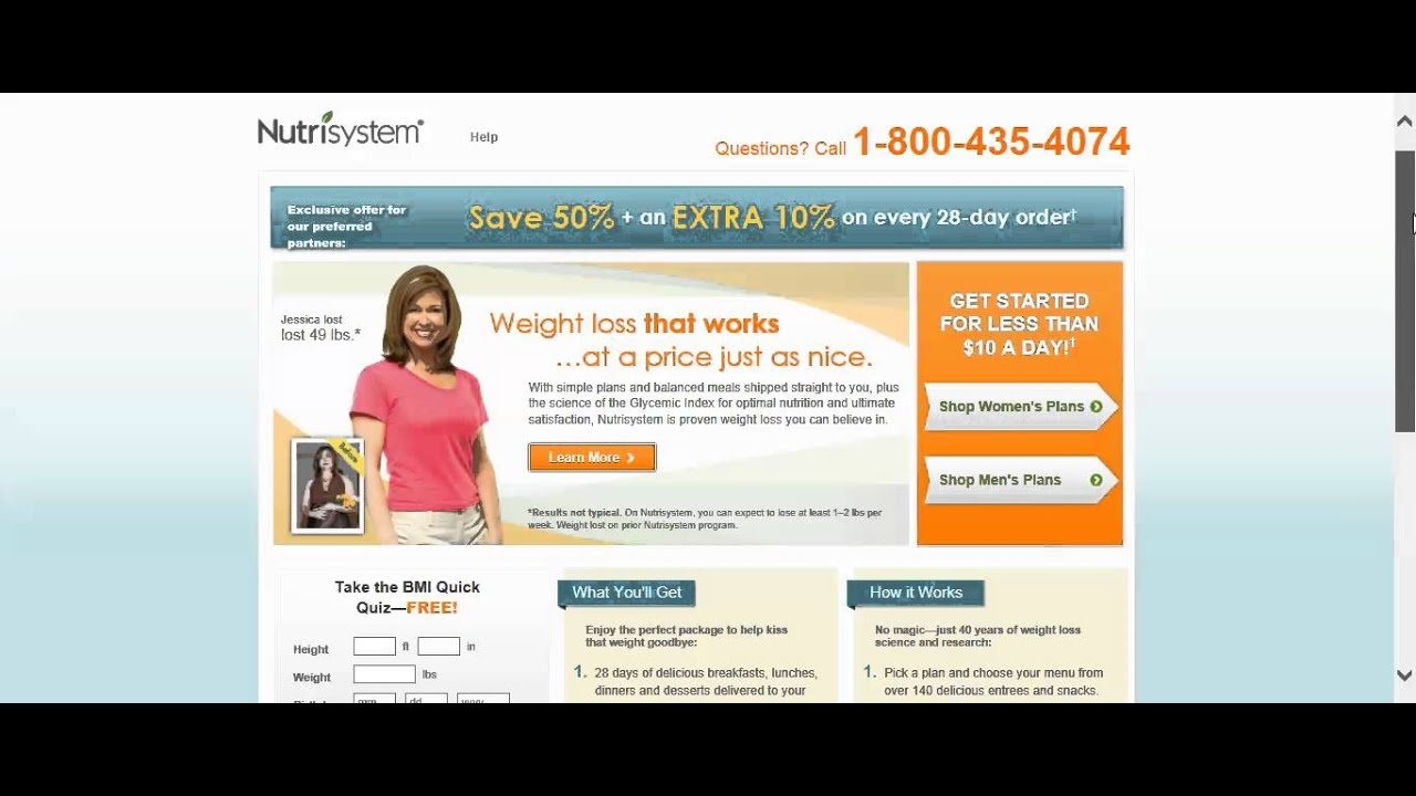 Nutrisystem pioneered the availability of weight loss programs on the internet. Since its launch in , giveback.cf has helped thousands of individuals in all fifty states lose weight and maintain a .