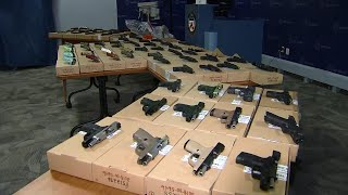 Police display guns seized during Project Patton raids