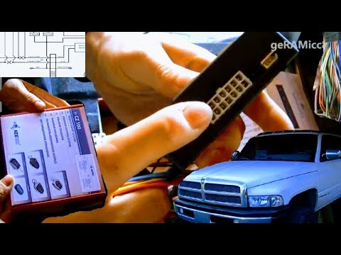 HOW TO INSTALL KEYLESS+CONTACTLESS ENTRY DODGE RAM   KEETEC CZ 100 SMART REMOTE   WIRE CODES PICK UP