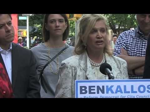 Congress Woman Carolyn Maloney Endorses Ben Kallos for City Council